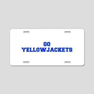 Yellowjackets-Fre blue Aluminum License Plate