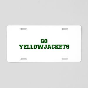 Yellowjackets-Fre dgreen Aluminum License Plate