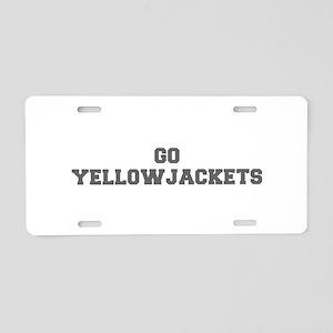 YELLOWJACKETS-Fre gray Aluminum License Plate