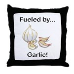 Fueled by Garlic Throw Pillow