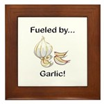 Fueled by Garlic Framed Tile