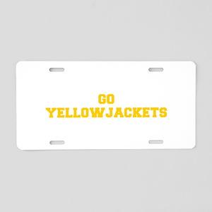 Yellowjackets-Fre yellow gold Aluminum License Pla