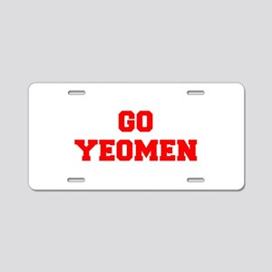 YEOMEN-Fre red Aluminum License Plate