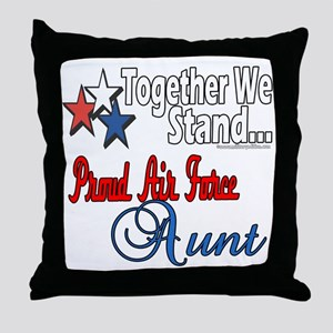 Proud Air Force Aunt Throw Pillow