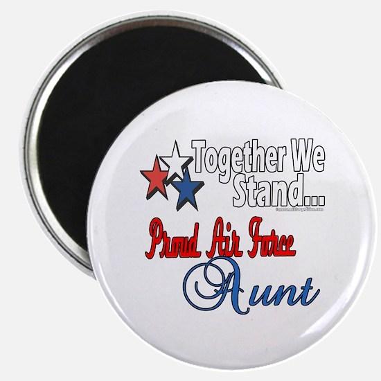 """Proud Air Force Aunt 2.25"""" Magnet (100 pack)"""