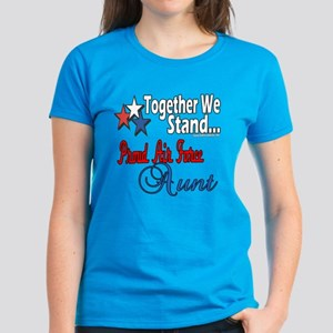 Proud Air Force Aunt Women's Dark T-Shirt