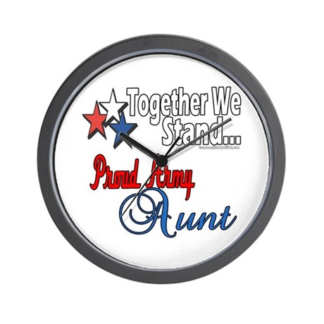 Proud Army Aunt Wall Clock
