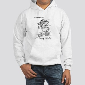Weimaraner Puppy Monster Hooded Sweatshirt