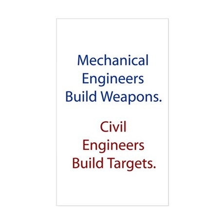 Mechanical Engineers and Civil Engineers Sticker (