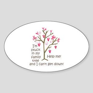 STUCK IN MY FAMILY TREE Sticker