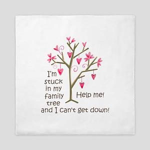 STUCK IN MY FAMILY TREE Queen Duvet