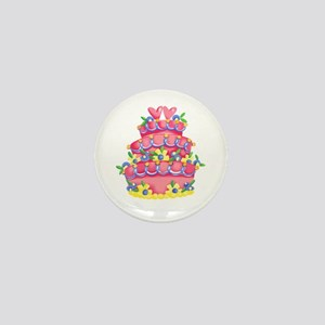 CAKE WITH HEARTS Mini Button