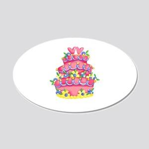 CAKE WITH HEARTS Wall Decal