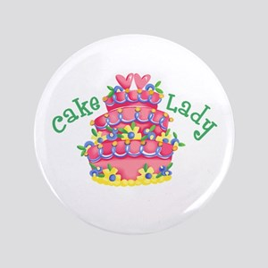 "CAKE LADY 3.5"" Button"