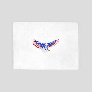 AMERICAN EAGLE IN FLIGHT 5'x7'Area Rug