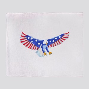 AMERICAN EAGLE IN FLIGHT Throw Blanket
