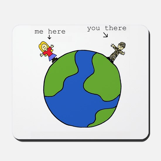 me here, you there (blonde) Mousepad