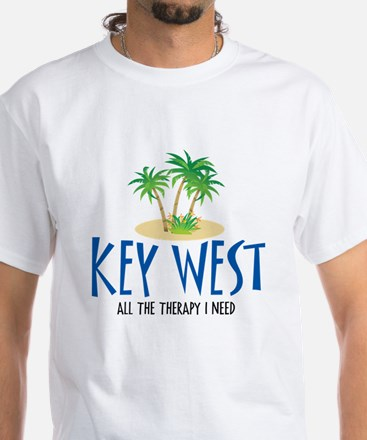 Key West Therapy - White T-Shirt