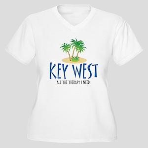 Key West Therapy - Women's Plus Size V-Neck T-Shi