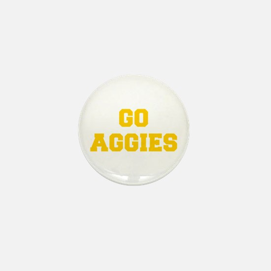 Aggies-Fre yellow gold Mini Button