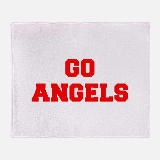 ANGELS-Fre red Throw Blanket