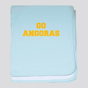 Angoras-Fre yellow gold baby blanket