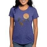Moon, japanese pampas gra Womens Tri-blend T-Shirt