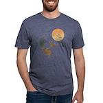 Moon, japanese pampas grass Mens Tri-blend T-Shirt