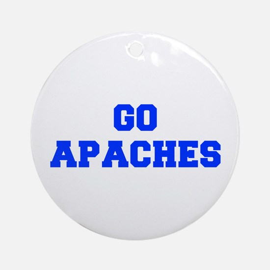 apaches-Fre blue Ornament (Round)