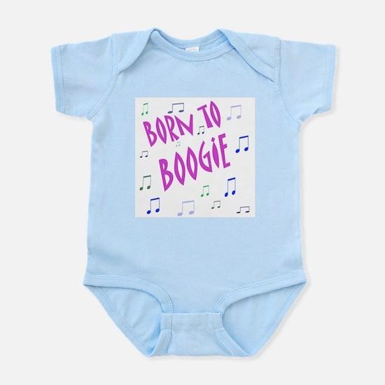 """Born To Boggie"" Girl Infant Bodysuit / Onesie"