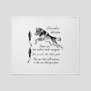 CHEROKEE WISDOM Throw Blanket