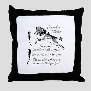 CHEROKEE WISDOM Throw Pillow