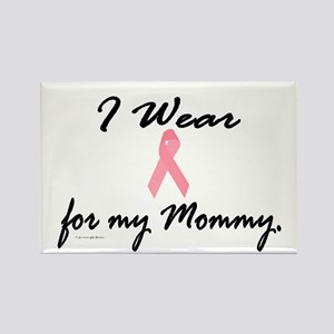 I Wear Pink For My Mommy 1 Rectangle Magnet