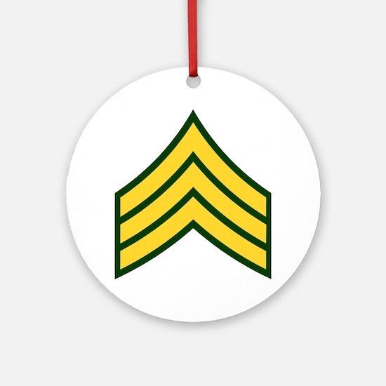 """Army E5 """"Class A's"""" Ornament (Round)"""