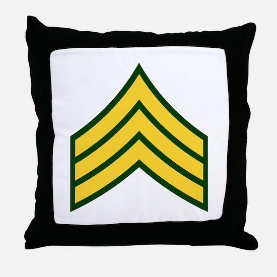 """Army E5 """"Class A's"""" Throw Pillow"""