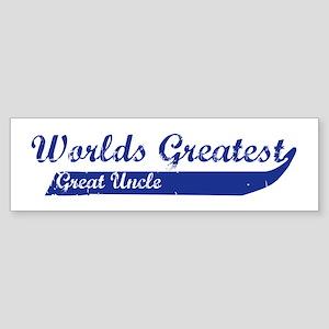 Greatest Great Uncle (blue) Bumper Sticker