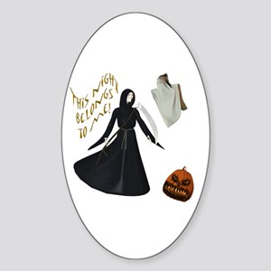Grim Reaper Oval Sticker