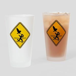 Oregon Owl Attack Warning Drinking Glass