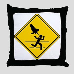 Oregon Owl Attack Warning Throw Pillow