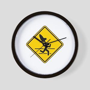 Oregon Owl Attack Warning Wall Clock