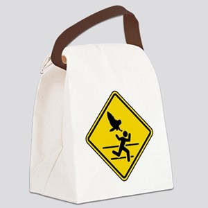 Oregon Owl Attack Warning Canvas Lunch Bag