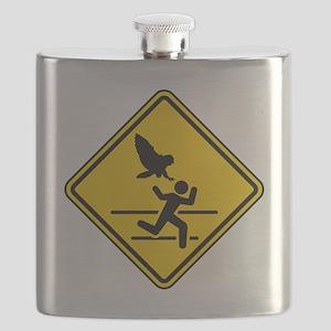 Oregon Owl Attack Warning Flask