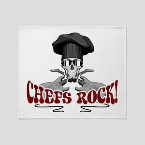 Chefs Rock Throw Blanket