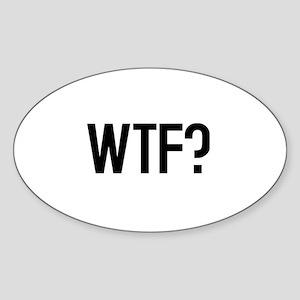 WTF? Oval Sticker