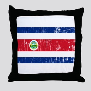 Vintage Costa Rica Throw Pillow