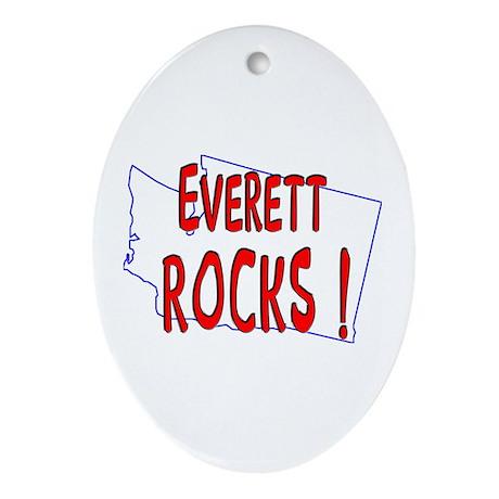 Everett Rocks ! Oval Ornament