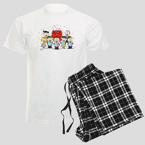 Peanuts Gang Christmas Men's Light Pajamas