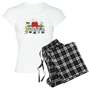 peanuts christmas womens pajamas cafepress
