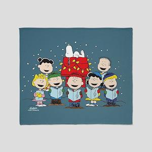Peanuts Gang Christmas Throw Blanket