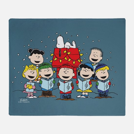 Peanuts Gang Christmas Throw Blanket